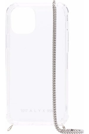 1017 ALYX 9SM Men Phone Cases - Chain-link clear iPhone 12 case