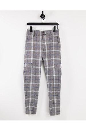 ASOS DESIGN Skinny crop smart trouser in check