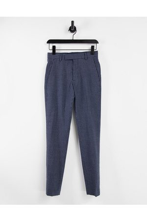 ASOS Skinny smart trouser in navy with elasticated waist