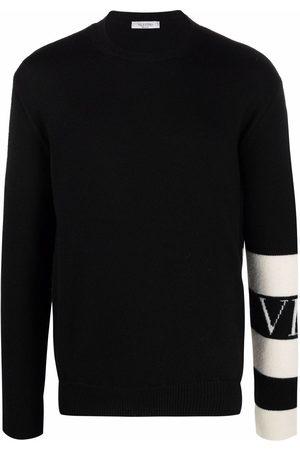 VALENTINO Men Jumpers - Stripe-detail wool jumper