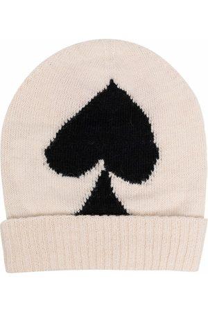 MM6 Maison Margiela Spade-embroidered beanie hat