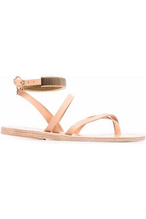 Ancient Greek Sandals Women Sandals - Embellished-strap sandals