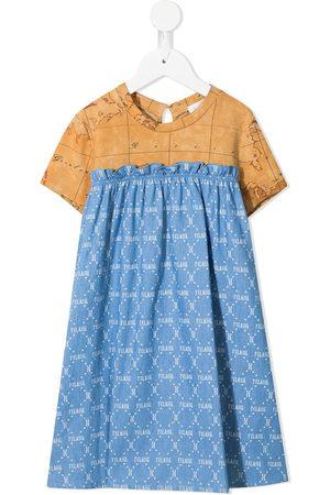 Alviero Martini Girls Casual Dresses - Monogram map-print dress