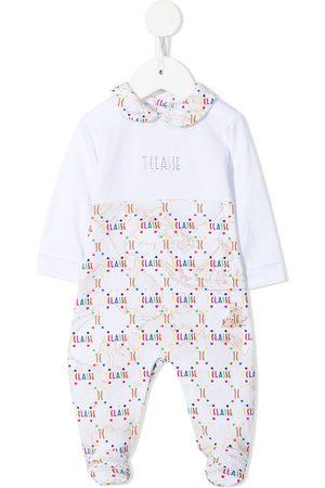 Alviero Martini Baby Pyjamas - Monogram map-print pajamas