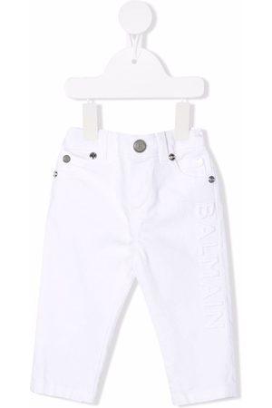Balmain Baby Chinos - Logo-detail skinny-cut trousers