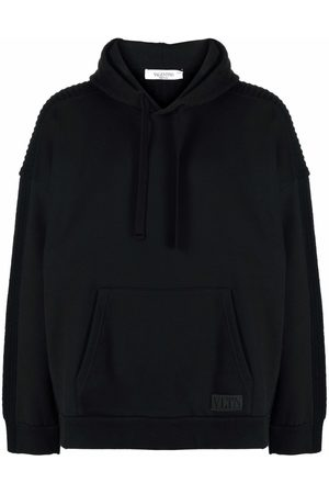 VALENTINO Panelled knitted hoodie