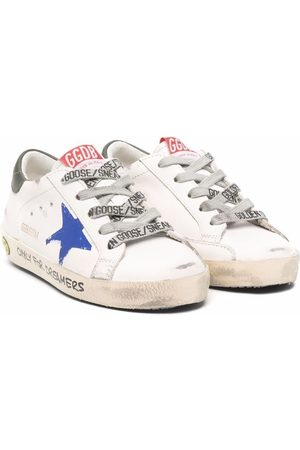 Golden Goose Boys Sneakers - Superstar low-top leather sneakers