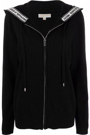 Michael Kors Logo-tape zip-up hoodie