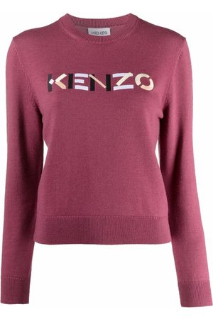Kenzo Embroidered-logo wool jumper