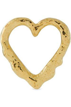 Alex Monroe 18kt yellow Teeny Tiny Heart stud single earring