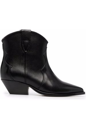 Isabel Marant Leather ankle cowboy boots