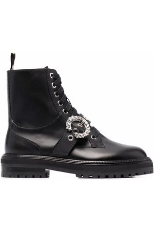 Jimmy Choo Women Ankle Boots - Crystal-embellished buckle ankle boots