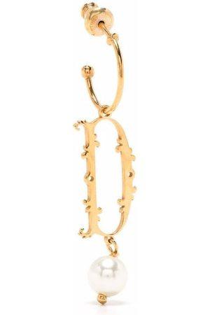Simone Rocha Pearl-embellished D letter single earring