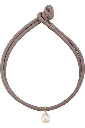 Mizuki Freshwater pearl leather wrap bracelet