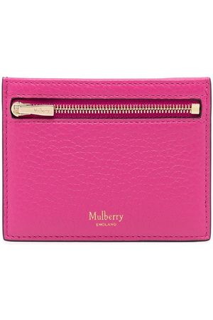 MULBERRY Logo-print grained leather wallet
