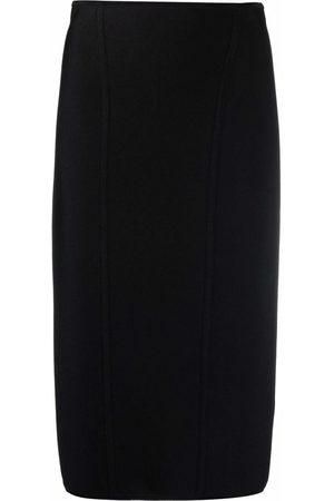 VERSACE Women Pencil Skirts - High-waisted zipped skirt