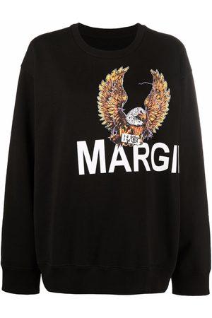 MM6 MAISON MARGIELA Women Long Sleeve - Eagle-motif long-sleeved sweater