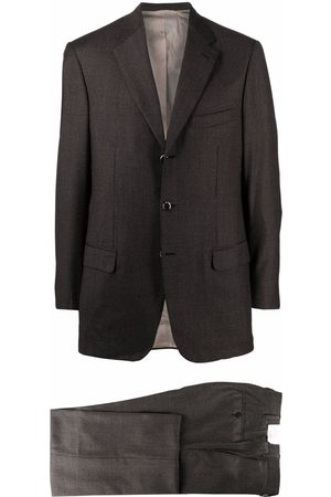 BRIONI Men Suits - Houndstooth wool slim-fit suit
