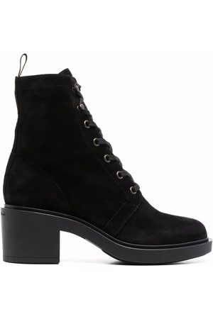 Gianvito Rossi Women Ankle Boots - Lace-up 65mm ankle boots