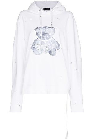We11 Done Pearl necklace teddy hoodie
