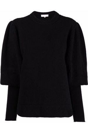 AMI AMALIA Women Long Sleeve - Long puff-sleeve merino sweater