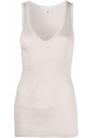 James Perse Women Tank Tops - U-neck sleeveless top