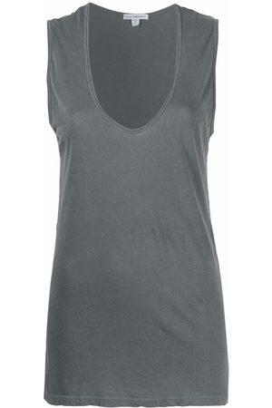 James Perse Women Tank Tops - V-neck sleeveless top
