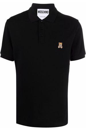 Moschino Men Polo Shirts - Teddy bear logo polo shirt