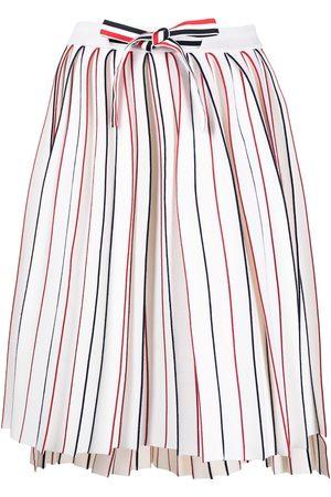 Thom Browne RWB knife-pleat skirt
