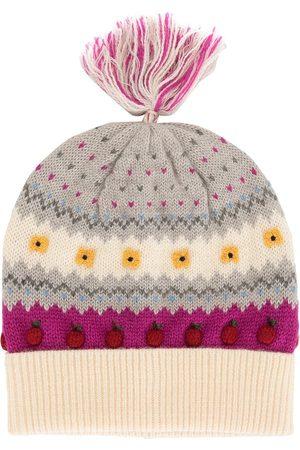 Familiar Girls Beanies - Intarsia apple motif beanie hat