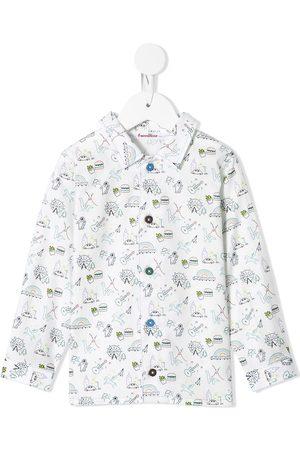 Familiar Boys Tops - Doodle print shirt