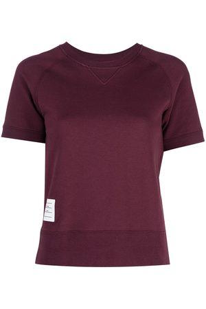 Thom Browne Logo patch short sleeve sweatshirt top
