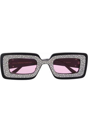 Gucci Women Sunglasses - Crystal-embellished rectangular sunglasses
