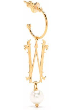 Simone Rocha Women Earrings - Pearl-embellished W letter single earring