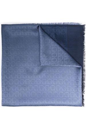 Salvatore Ferragamo Logo-jacquard silk-blend scarf