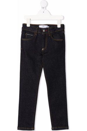 Philipp Plein Girls Straight - Mid-rise straight-leg jeans