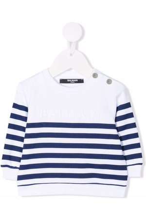 Balmain Baby Jumpers - Stripe knit jumper