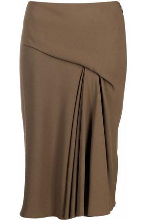 VERSACE Women Midi Skirts - Draped midi skirt