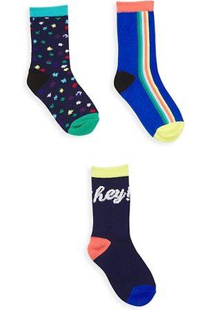 Isaac Mizrahi x Crayola Kid's 3-Pack Crew Socks