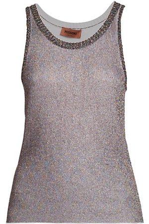 Missoni Women Tank Tops - Metallic Sleeveless Top