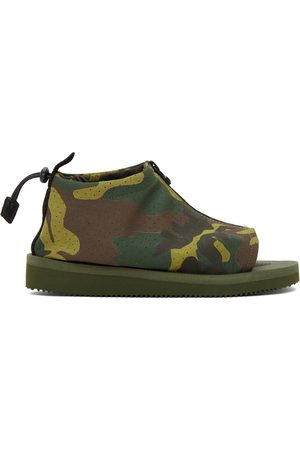 Men Sandals - Suicoke Green Camo EVO-ab Sandals