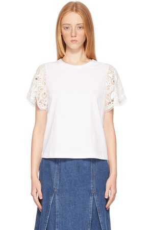 See by Chloé Jersey & Lace T-Shirt