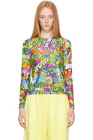 Balenciaga Multicolor 'Wow' Long Sleeve T-Shirt
