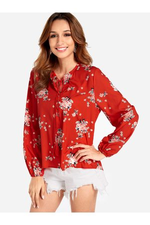 YOINS Long Sleeve Button Down Floral Top