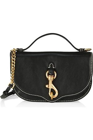 Rebecca Minkoff Women Handbags - Megan Half Moon Leather Crossbody Bag