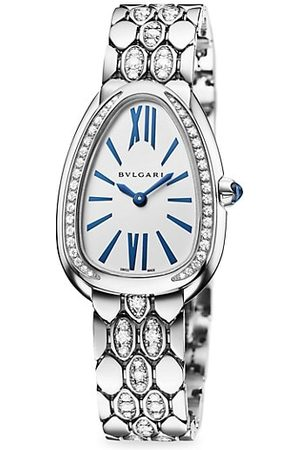 Bvlgari Lady Serpenti Seduttori 18K & Diamond Bracelet Watch
