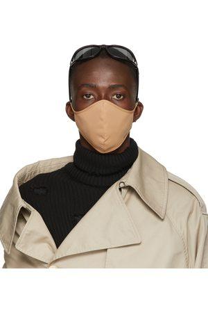 Balenciaga Tan Nylon Logo Face Mask