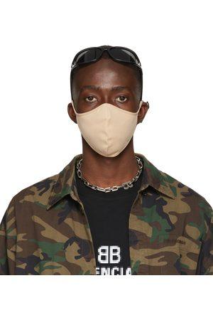 Balenciaga Beige Nylon Logo Face Mask