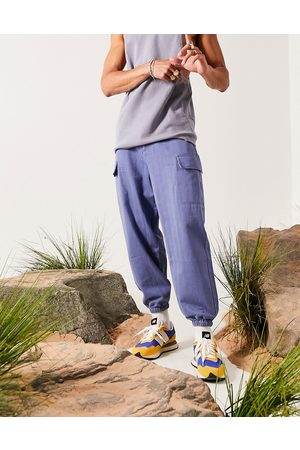 ASOS Oversized tapered trousers in