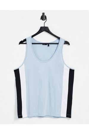 ASOS DESIGN Relaxed vest in light with side panel details